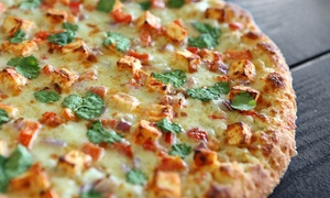 Namaste Pizza: Indian-Inspired Pizzeria Fare for Takeout at Namaste Pizza (Up to 40% Off). Two Options Available.