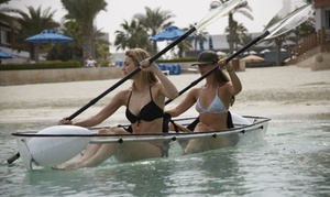 Fahrenheit Beachsports: One-Hour Clear Kayak Rental for Up to Four with Fahrenheit Beachsports (Up to 43% Off)