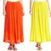 Chorus Girl Women's Crinkle Maxi Skirt