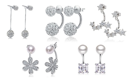 Double Earrings with Crystals from Swarovski® and 925 Sterling Silver