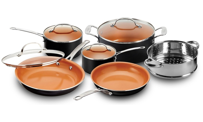 Up To 50 Off On Gotham Copper Cookware 10pc Groupon Goods