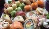 Shisan Sushi - Shisan Sushi,: Wertgutschein über 30 € oder 50 € für 2 oder 4 Personen anrechenbar auf das Sushi-Sortiment bei Shisan Sushi