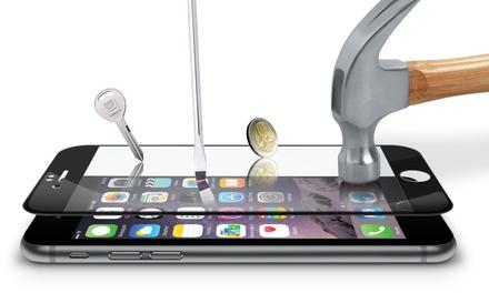 Cristal templado protector 3D y funda transparente Avanca para iPhone 6/6S y 7