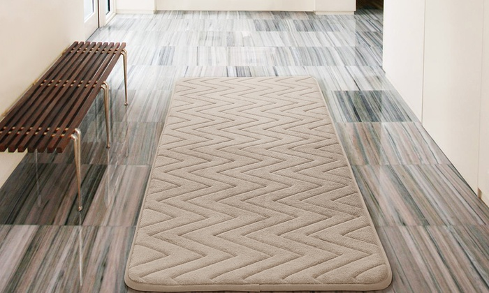 Up To 66 Off On Oversized Memory Foam Bath Rug Groupon Goods