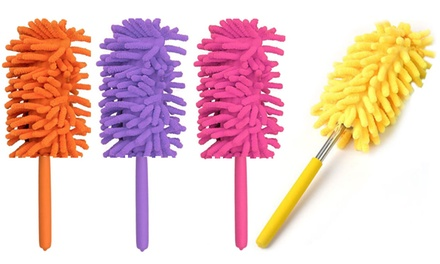 One, Two or Four Telescopic Microfibre Cleaning Dusters