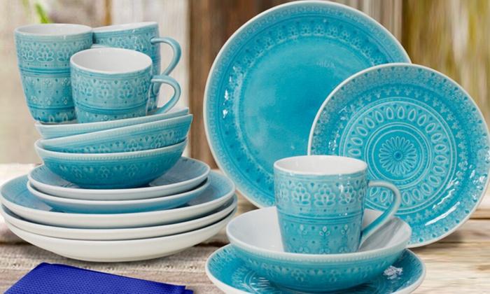Fez Dinnerware Set (16-Piece) ... & Fez Dinnerware Set (16-Piece) | Groupon