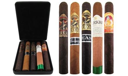 Gotham Cigars Exclusive: Gurkha's Rare Toro Sampler (5-Pack)