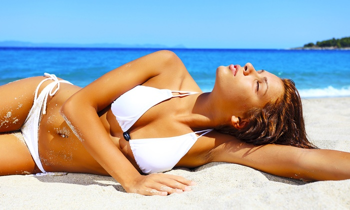 New Look Medi Spa - Salon Plaza: One, Three, or Five Organic Airbrush-Tanning Sessions at New Look Medi Spa (Up to 59% Off)