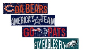 Fan Creations NFL Team Slogan Sign
