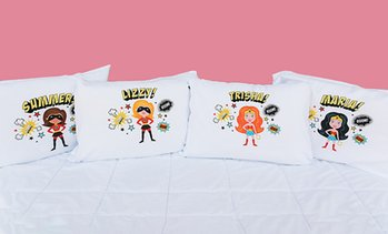 Xmas Kids Superhero Pillowcase