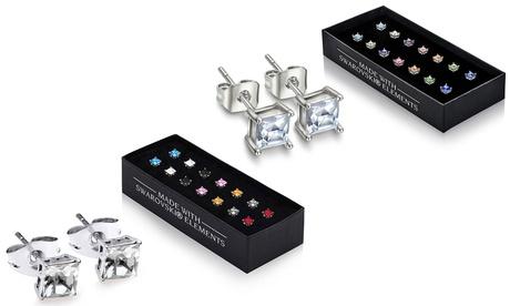 1 o 2 sets de 7 pendientes con cristales Swarovski® Oferta en Groupon