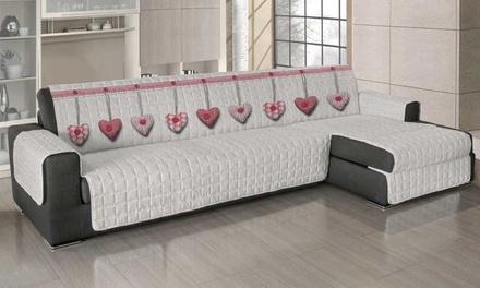 Copridivano angolare universale con penisola groupon goods - Copridivano angolare per divano in pelle ...