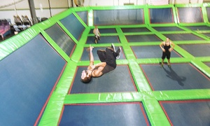 Rebounderz: Jump Time, Dodgeball, or Themed Party at Rebounderz Edison (Up to 46% Off)