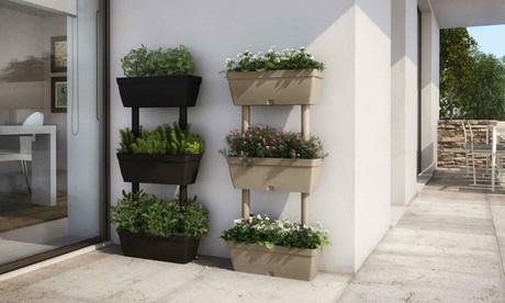 Image of Set di 2 fioriere-orto in casa a 3 livelli Lolego Artplast, disponibili in 3 colori
