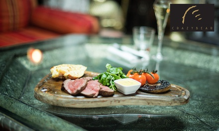 Chateaubriand, Lobster and Premium Champagne at The Crazy Bear £24.50