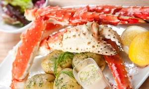 Blue Water Seafood & Crab: Snow-Crab Dinner or Salad or Sandwich Lunch for Two or Four at Blue Water Seafood & Crab (Up to 50% Off)
