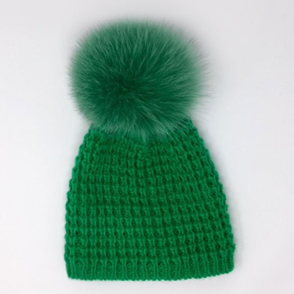 43dfb5c9c8ab7 Up To 56% Off on Kyi Kyi Knit Beanie with Pompom
