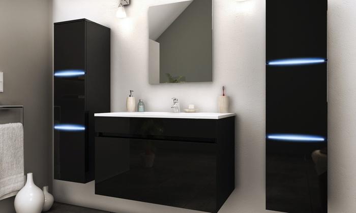 meuble de salle de bain suspendu groupon shopping. Black Bedroom Furniture Sets. Home Design Ideas