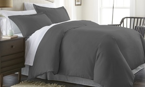 Merit Linens Microfiber Duvet Cover Set (3-Piece)
