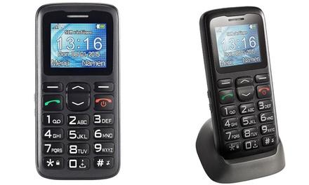 Mobiele telefoon van Simvalley met grote knoppen voor senioren
