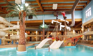 Ramada Tropics Resort & Conference Center: 1-Night Stay for Five with Water-Park Passes & Pizza Meal at Ramada Tropics Resort & Conference Center in Des Moines, IA