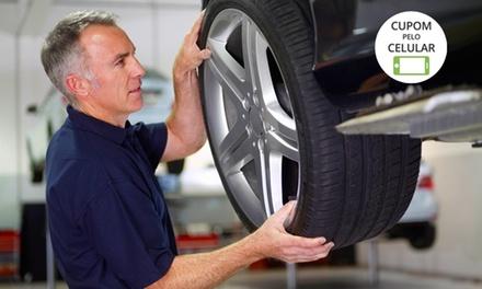 GP – Shopping Taboão: alinhamento, balanceamento e check up de suspensão e freios (opções com cambagem e óleo)