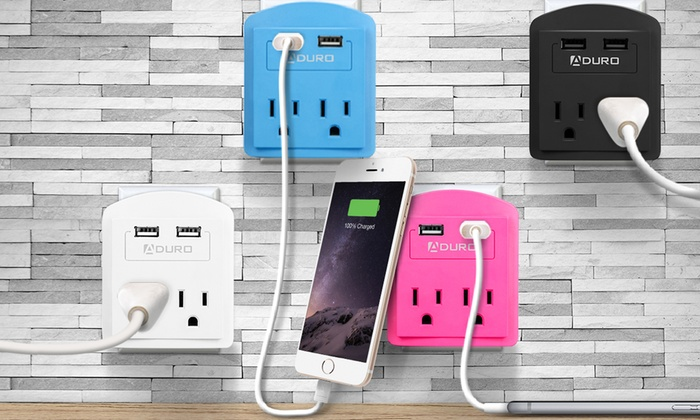 Aduro 2-Outlet USB Surge Protector: Aduro 2-Outlet USB Surge Protector
