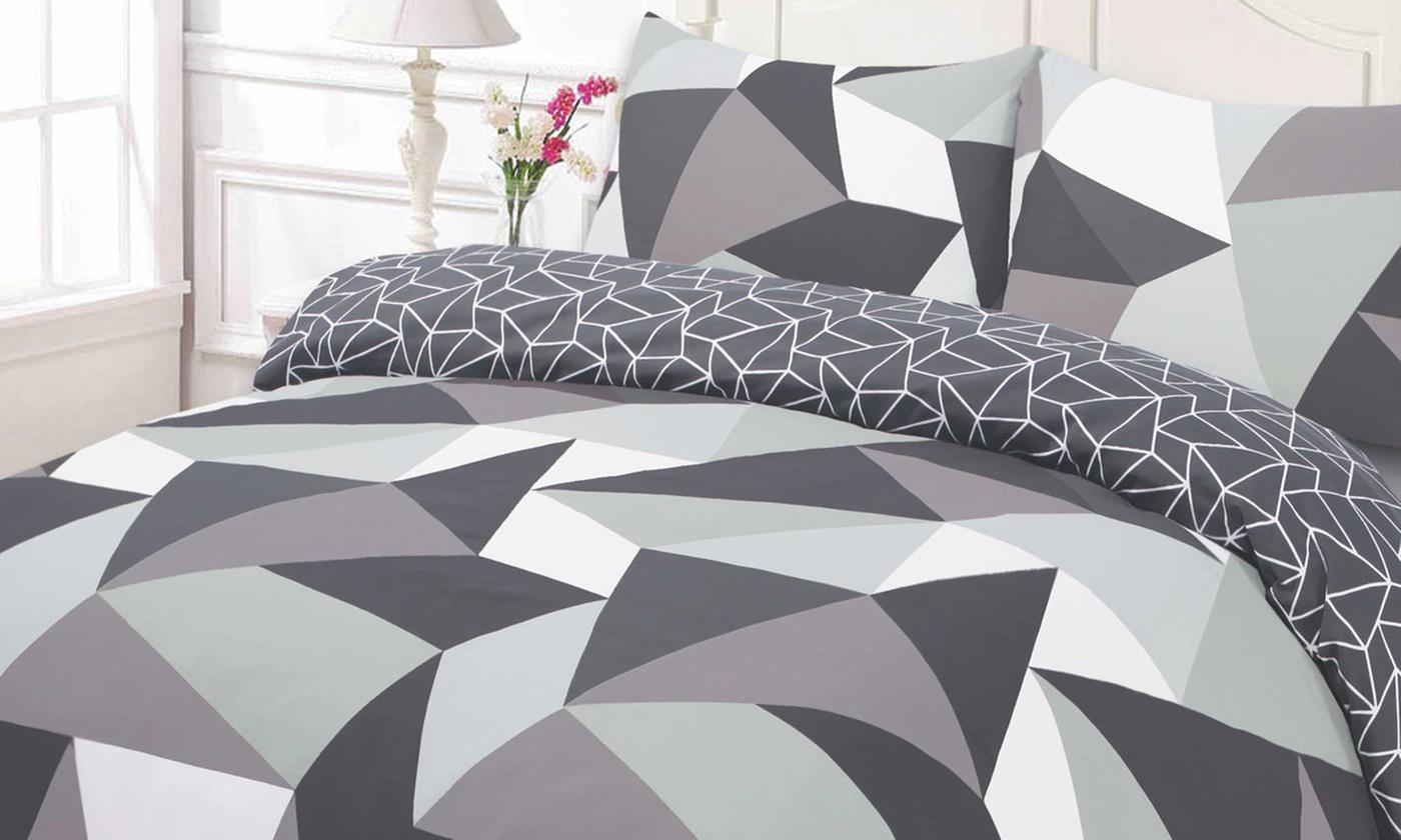 shapes reversible duvet cover set