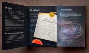 Regala una stella con certificato: Regala una stella alla persona che ami in versione digitale o cartacea con certificato ufficiale italiano (sconto 50%)