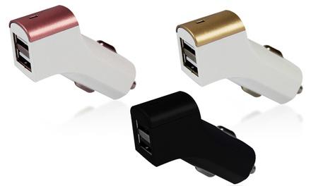 Cargador USB dual para coche con opción a cable Lightning