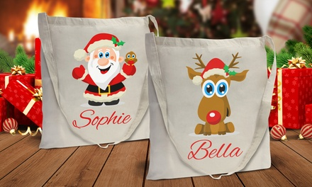 One or Two Personalised Christmas Bags from Dinkleboo