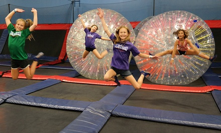Open Jump for 2 or 4, or Party for 20 at Helium Trampoline & Climbing Park (Up to 50% Off). Five Options.