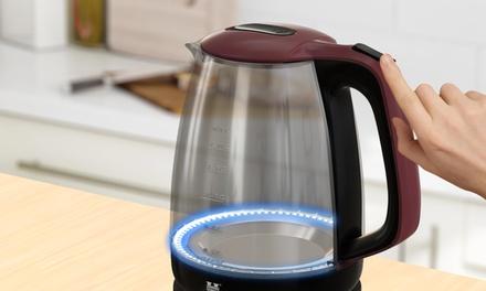 Bouilloire en verre à LED 1.7L Herzberg