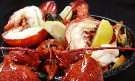 $99 for a Lobster Bake for Two with Soup, Salad, Dessert, and Wine at Stella's Fish Cafe ($179 Value)
