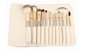Professional Makeup Brush Set with Storage Case (13-Piece)