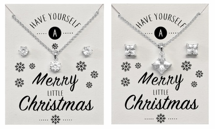 Christmas Crystal Solitaire Set
