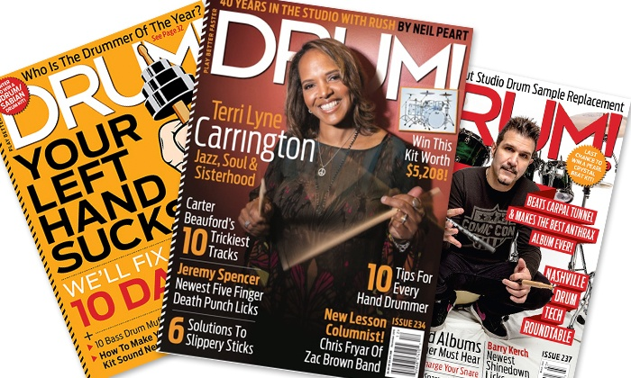drum magazine up to 43 off print and digital subscription groupon