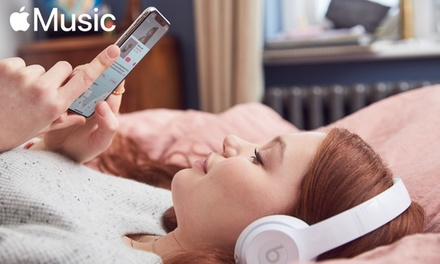 Suscripción gratuita de Apple Music por cuatro meses — Plan familiar o individual
