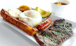 Bandeja Paisa Latin Restaurant: Dinner for 2 or 4, Valid Monday–Thursday or Any Day at Bandeja Paisa Latin Restaurant (Up to 43% Off)