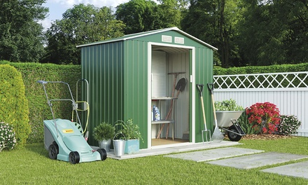 Apex or Pent Metal Garden Storage Sheds in Choice of Size With Free Delivery