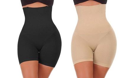 1 o 2 shorts de efecto adelgazador de cintura alta