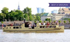 Loewentin: Rejsy historyczne po Wiśle statkiem Loewentin z przewodnikiem: wycieczka dla 2 osób za 39,99 zł i więcej opcji (do -44%)