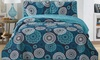 Home Style Reversible Printed Quilt Set (3-Piece)