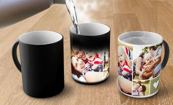 Up to 91% Off Personalized Collage Magic Mugs from Printerpix
