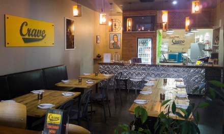 TwoCourse Italian Dinner with Wine or Beer for Two $29 or Four People $55 at Crave 443 Up to $139.60 Value