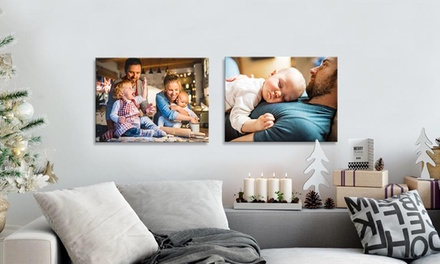 One or Two 12''x16'' Custom Canvas Prints from Simple Canvas Prints (Up to 97% Off)