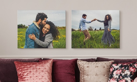 "One, Two, Three, or Four 12""x16"" Custom Premium Thick Wrap Canvas Prints from Canvas on Demand (Up to 93% Off)"