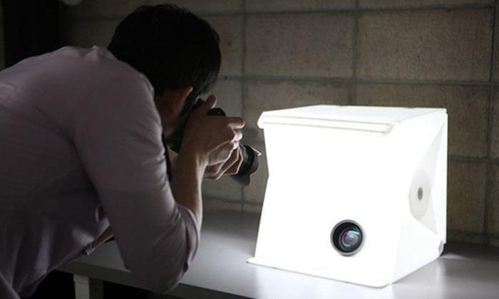 Kmall $29 for a Mini Portable Photography Studio Light Tent Box (Donu0027t ... & Mini Portable Photography Light Box | Groupon