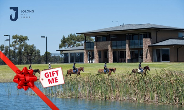 Horse Riding for 1 ($35) to 4 People ($115) + Lunch & Wine for 1 ($55) to 4 ($195) at Jolong Park (Up to $380 Value)