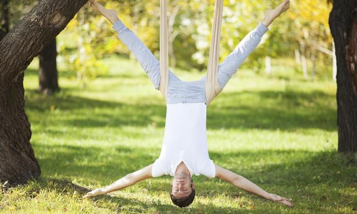 Fly Yoga Studio - East Greenbush: Two Aerial Yoga Classes at Fly Yoga Studio (65% Off)